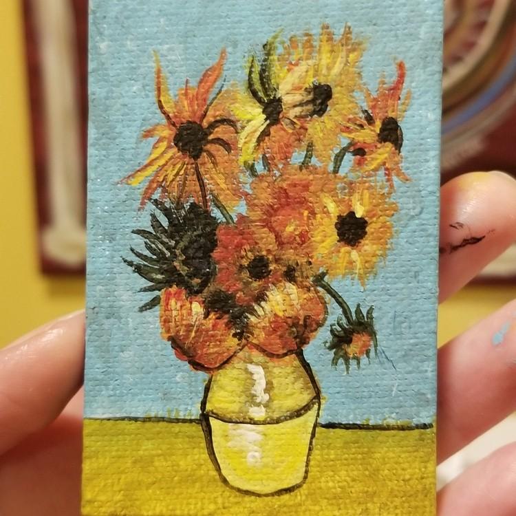 Tiny Van Gogh Sunflowers 2