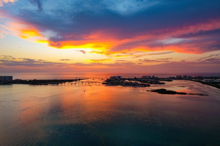 Sunset over Clearwater Beach
