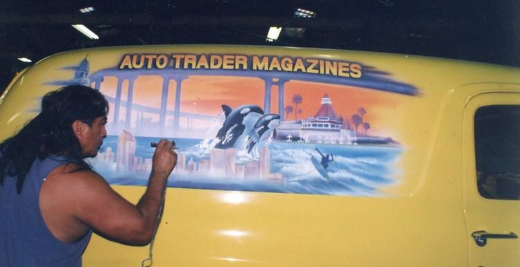 Down Memory Lane Auto Trader Mag. Mural