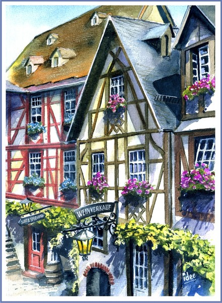 Wine-village  by the Moselle