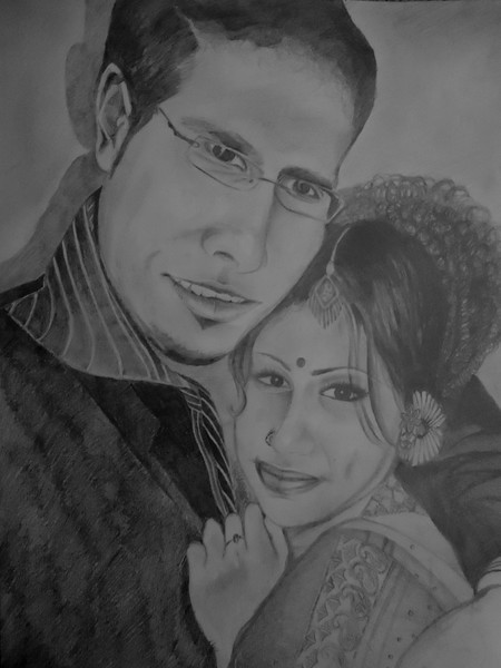 Self and Hubby Portrait