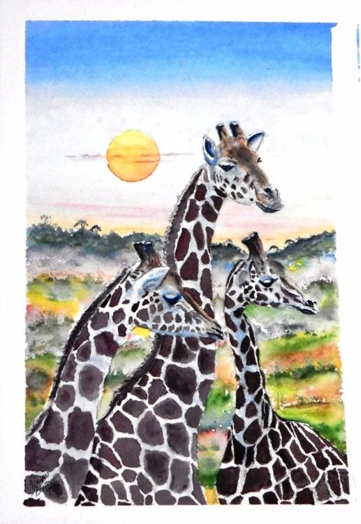 Tree Giraffes   SOLD