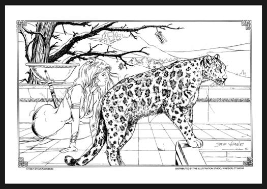Warrior with Snow Leopard