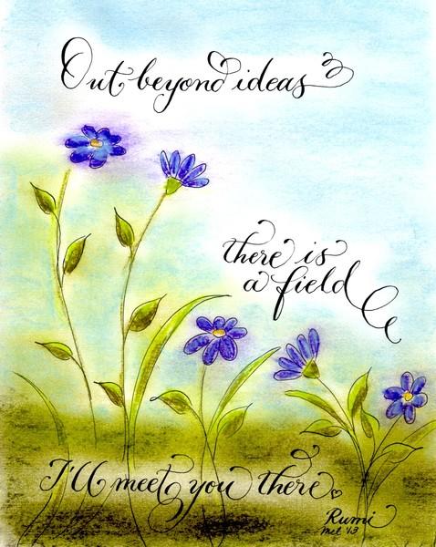 Rumi quote calligraphy art
