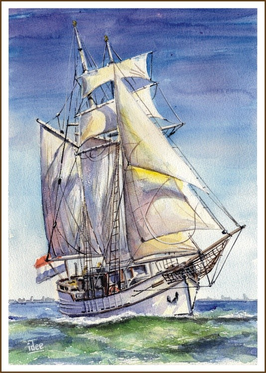 Dutch topsail schooner
