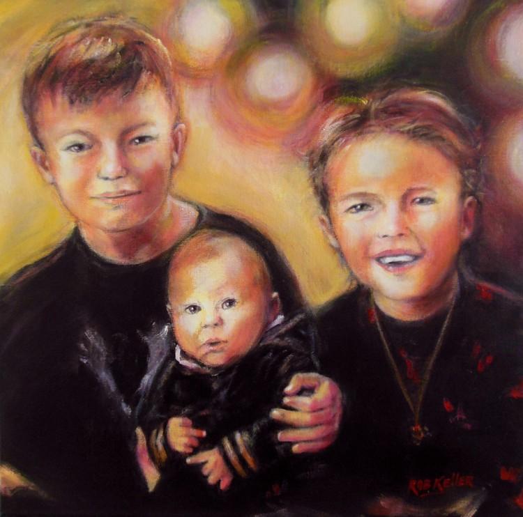 3 Children, my latest commission
