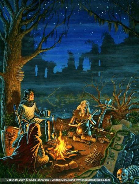 Encampment before the Ruins