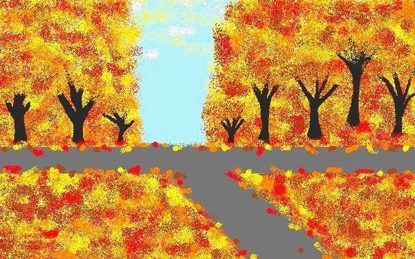 autumn intersection