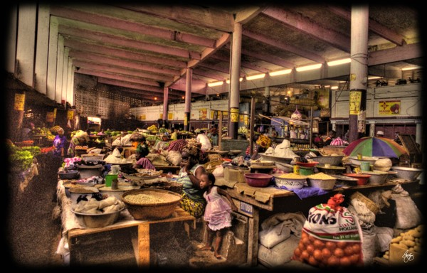 The Indoor Market at Guinea Conakry