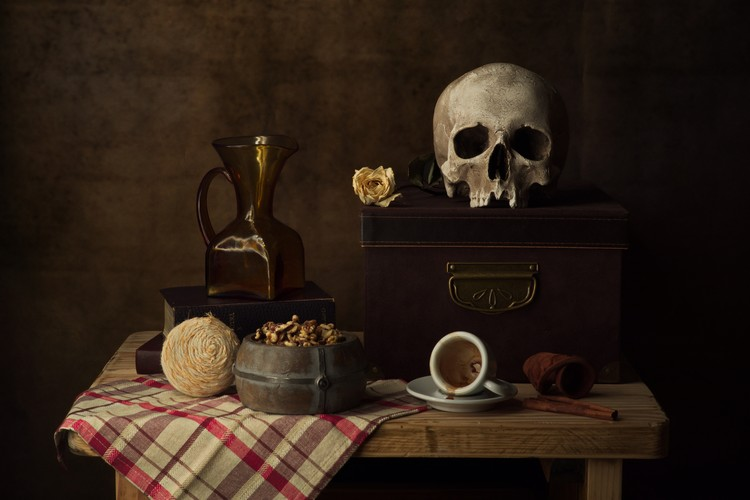 Still life with coffee cup