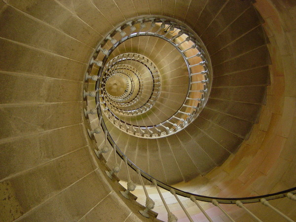Lighthouse stairs.