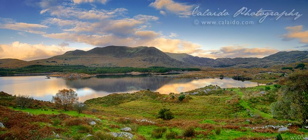 • Blissful Lough Currane near Waterville, Ireland