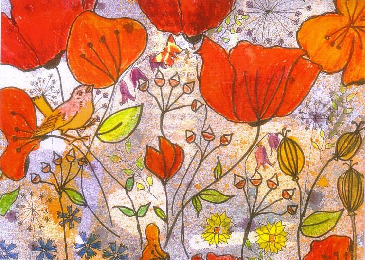 Garden bird watercolour