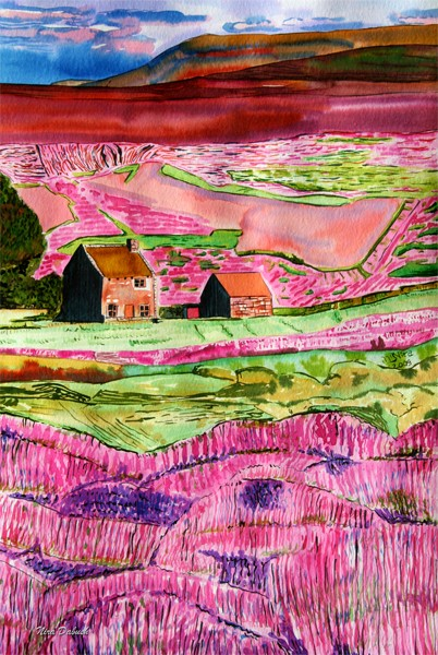 Two Homes Around the PInkish Hill, at the Moors