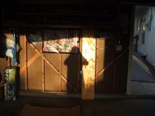Sunlit garage