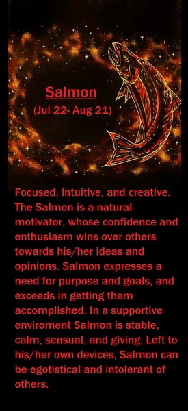 Native American Zodiac Sign, (Salmon)