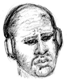 Man Wearing Headphones Sketch