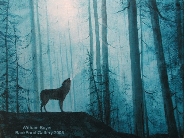 2005-12 HaC 18x24 Wolf in the Woods