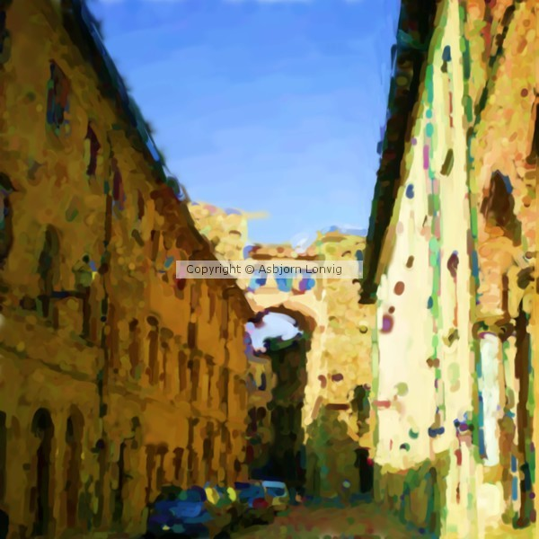 Volterra Case torri Buonparenti  Tower House of Good Parents Painting