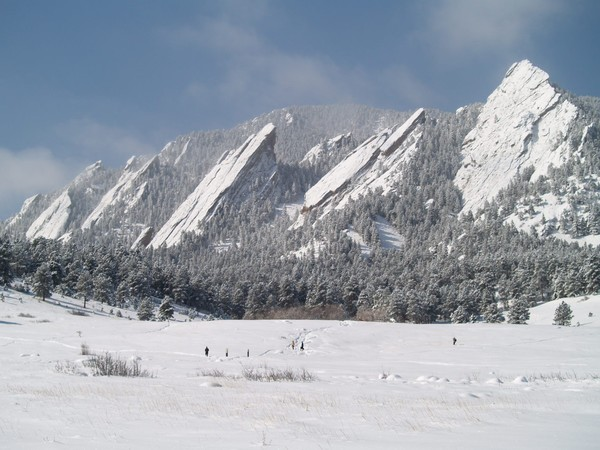 March Blizzard Brings Beauty to Boulder Flatirons