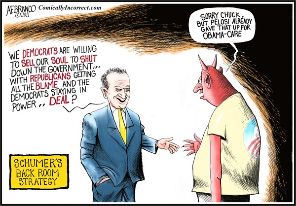 Schumer's deal with the Devil (Cartoon)