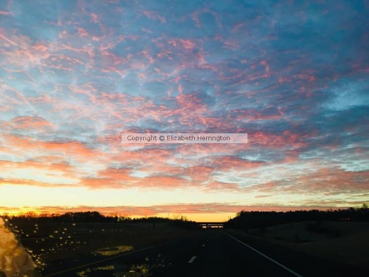 Beautiful Scattered Sunset
