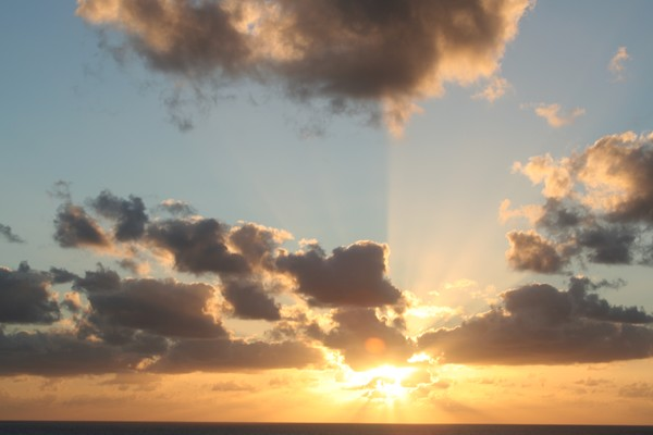 Caribbean sun set 1