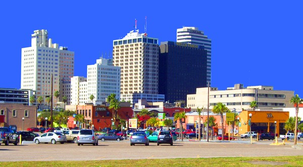 Downtown Corpus Christi from Shoreline Drive