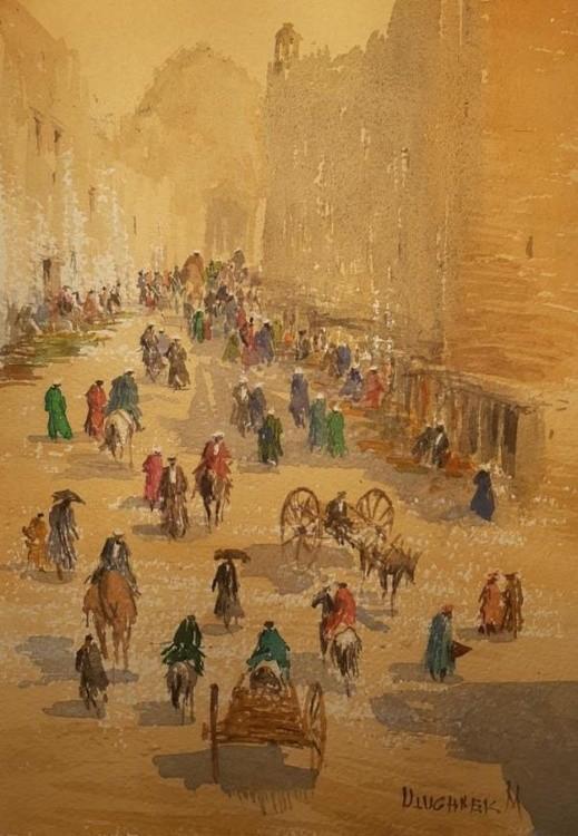Street on market day