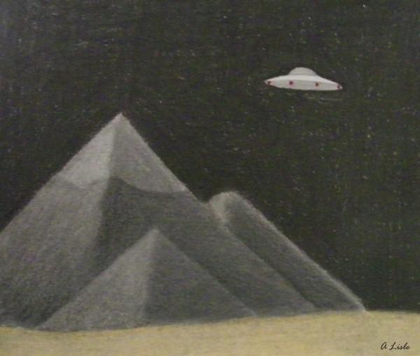 UFO over Giza
