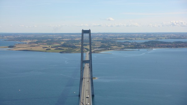 Top Of The Great Belt Bridge Denmark
