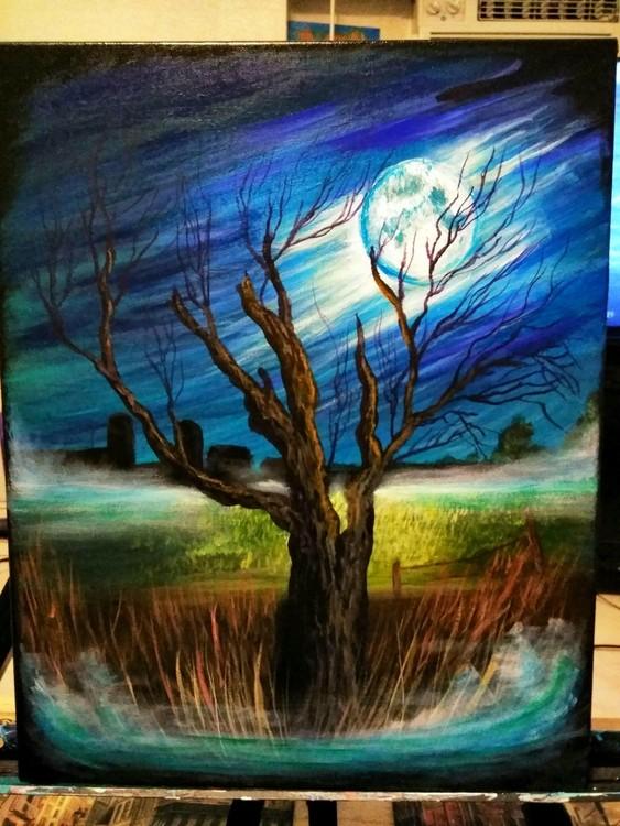 Finished Moonlit Tree