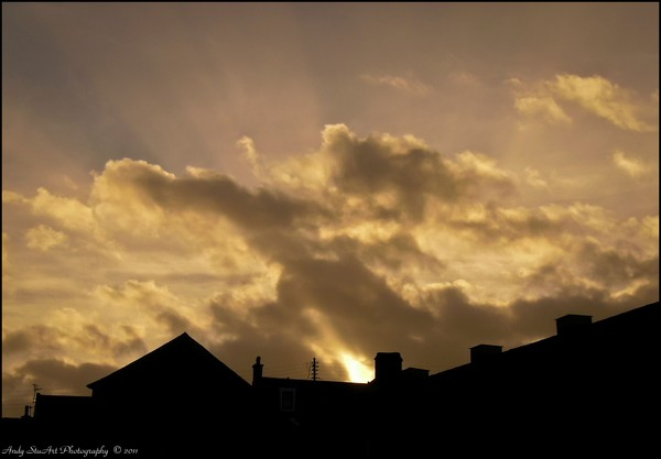 Sunset Over Portsoy