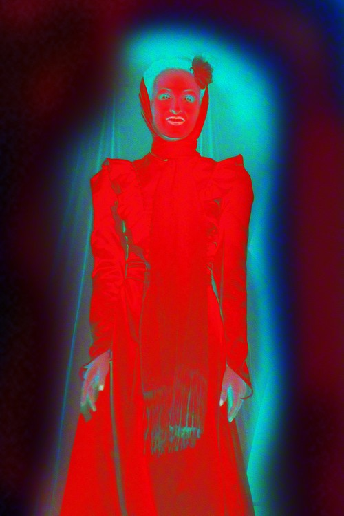Lady in red ghost