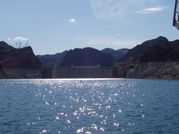 Hoover Dam From Boat on Lake Mead #2