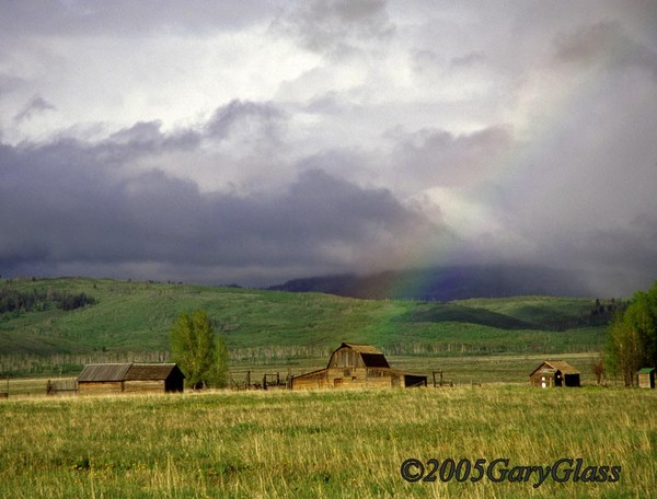 Rainbow Over Barn on Mormon Row