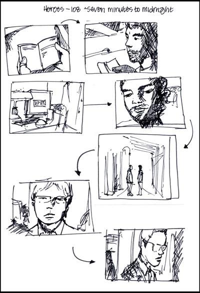 Heroes storyboarding