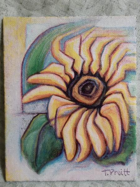 Sunflower in Wind
