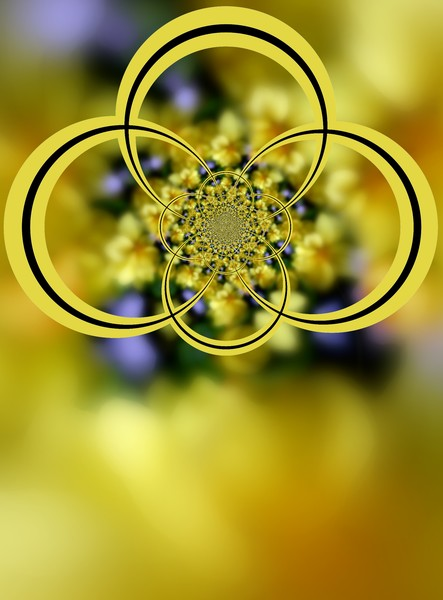 Floral Jewels Abstract (One)