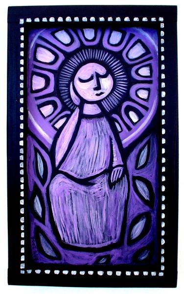 pensive christ -purpurine