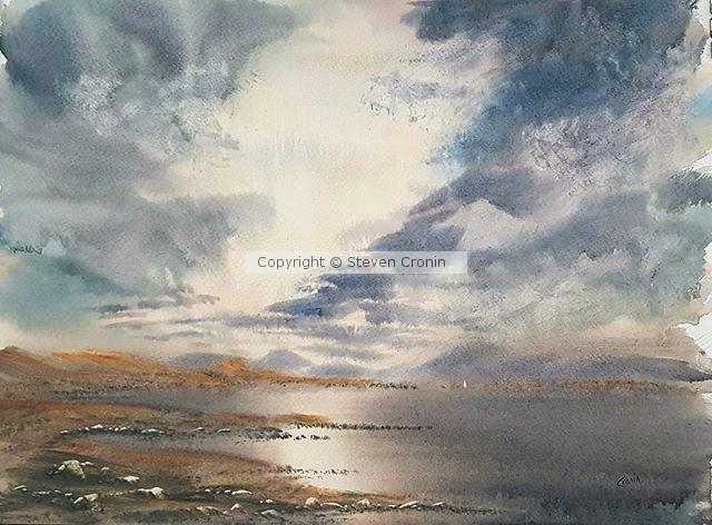 Loch Rannoch Watercolour Painting by Steven Cronin