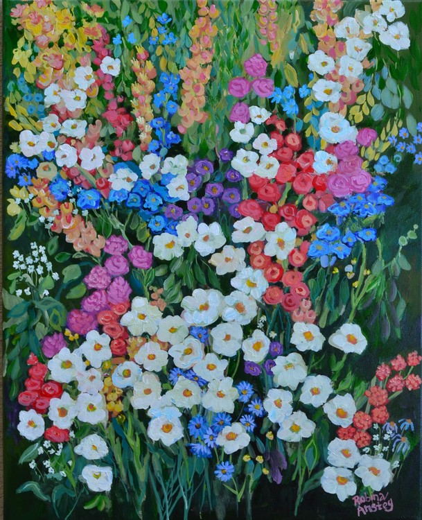 Floral Crescendo 20x16 by Robina Anstey May 2019