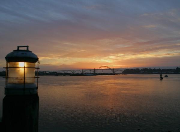Lit Sunset