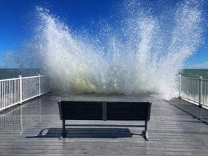 Waves splashing at Beach