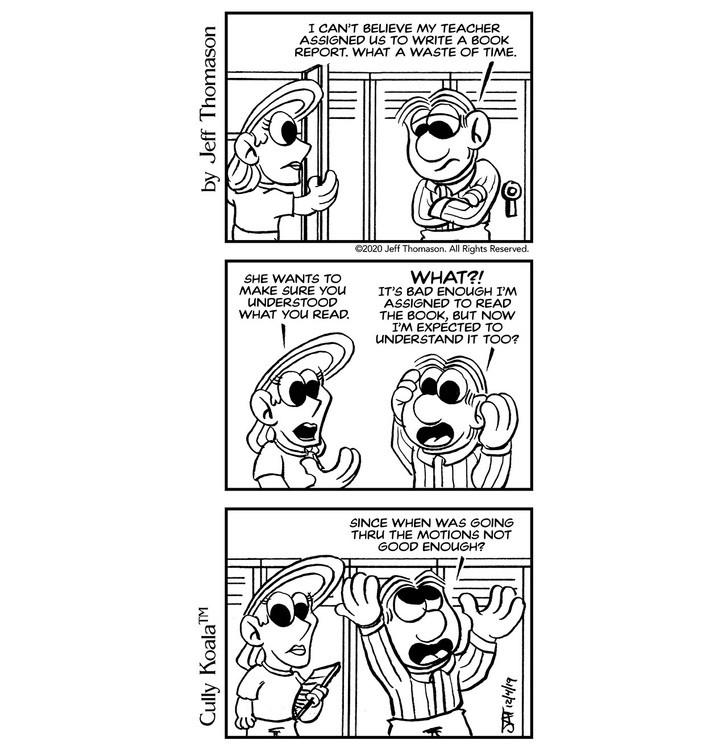 Comic - Go Thru The Motions