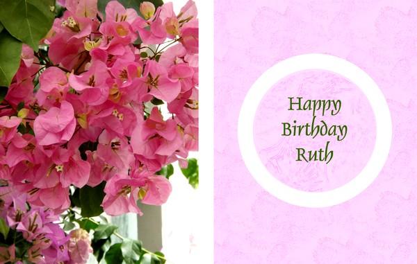 Happy Birthday Ruth