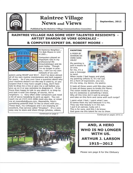 Raintree Sept. 2012 Newspaper