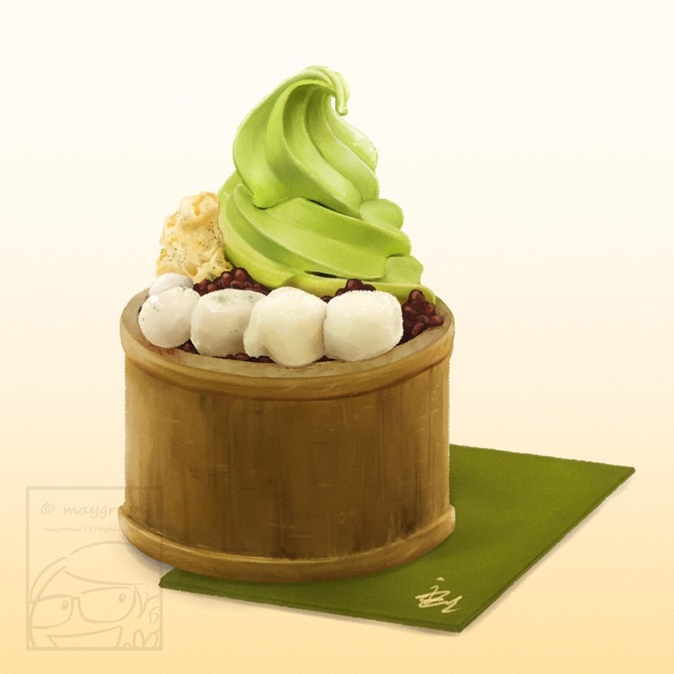 Matcha Ice Cream Dessert