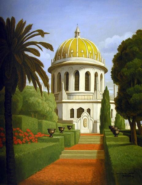 the bahi tample in Haifa , Israel