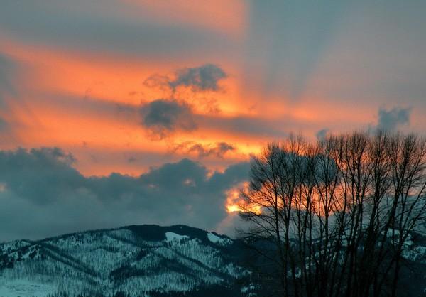 A Sunset Over Jackson Hole